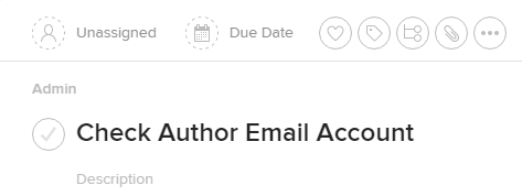Check Author Email Account