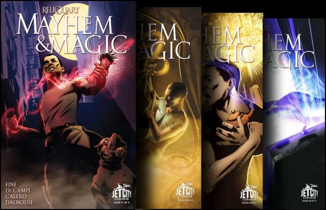 Mayhem & Magic Comic Book Series Transparent